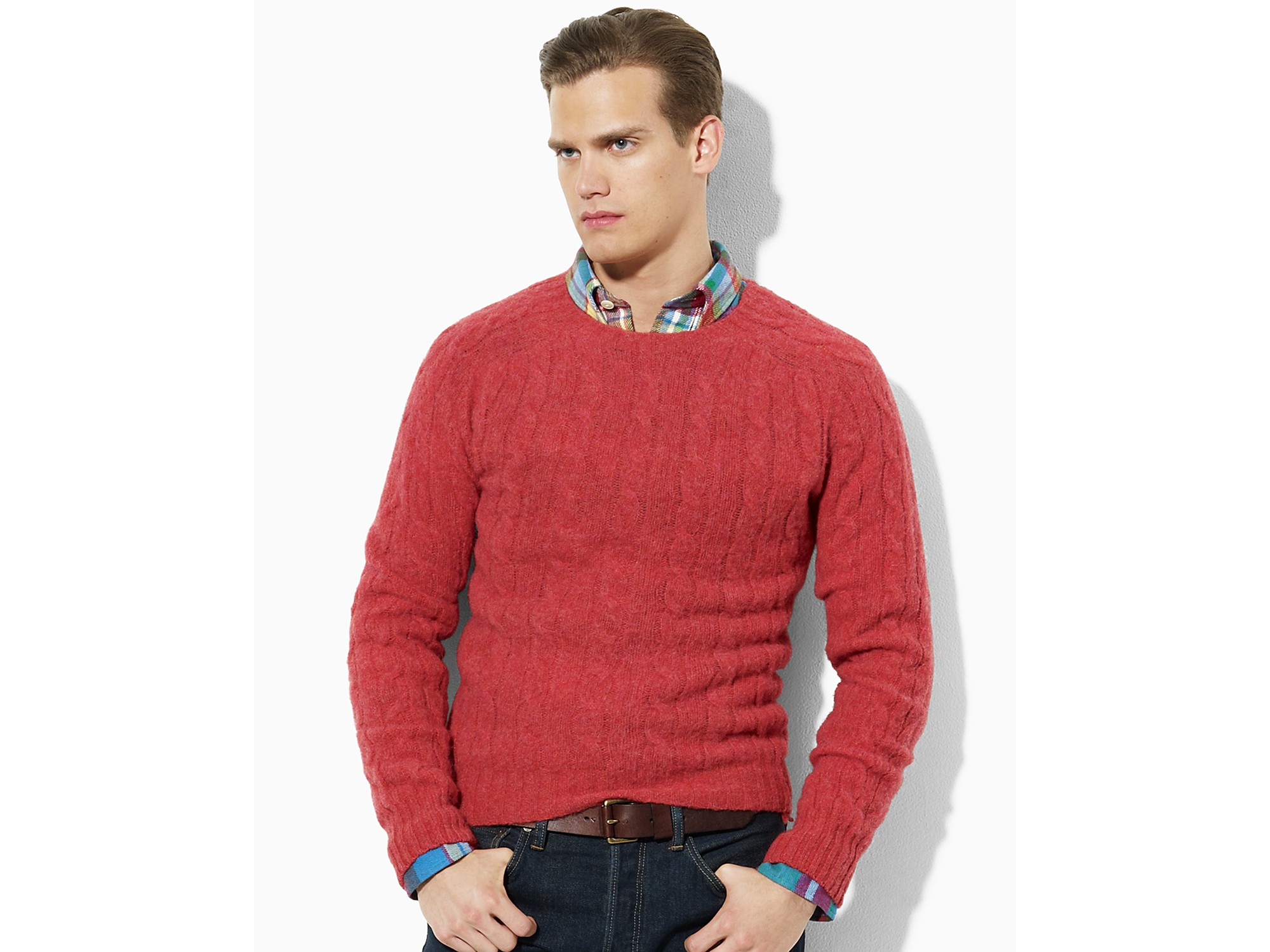 539656d0f Ash Polo Ralph Lauren Wool-cashmere Cable-knit Sweater in Green for ...