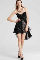 Badgley Mischka Mark + James By Sequin Sweetheart Dress - Lyst