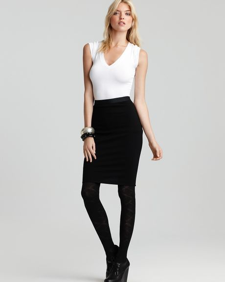 bailey 44 knee length pencil skirt in black lyst