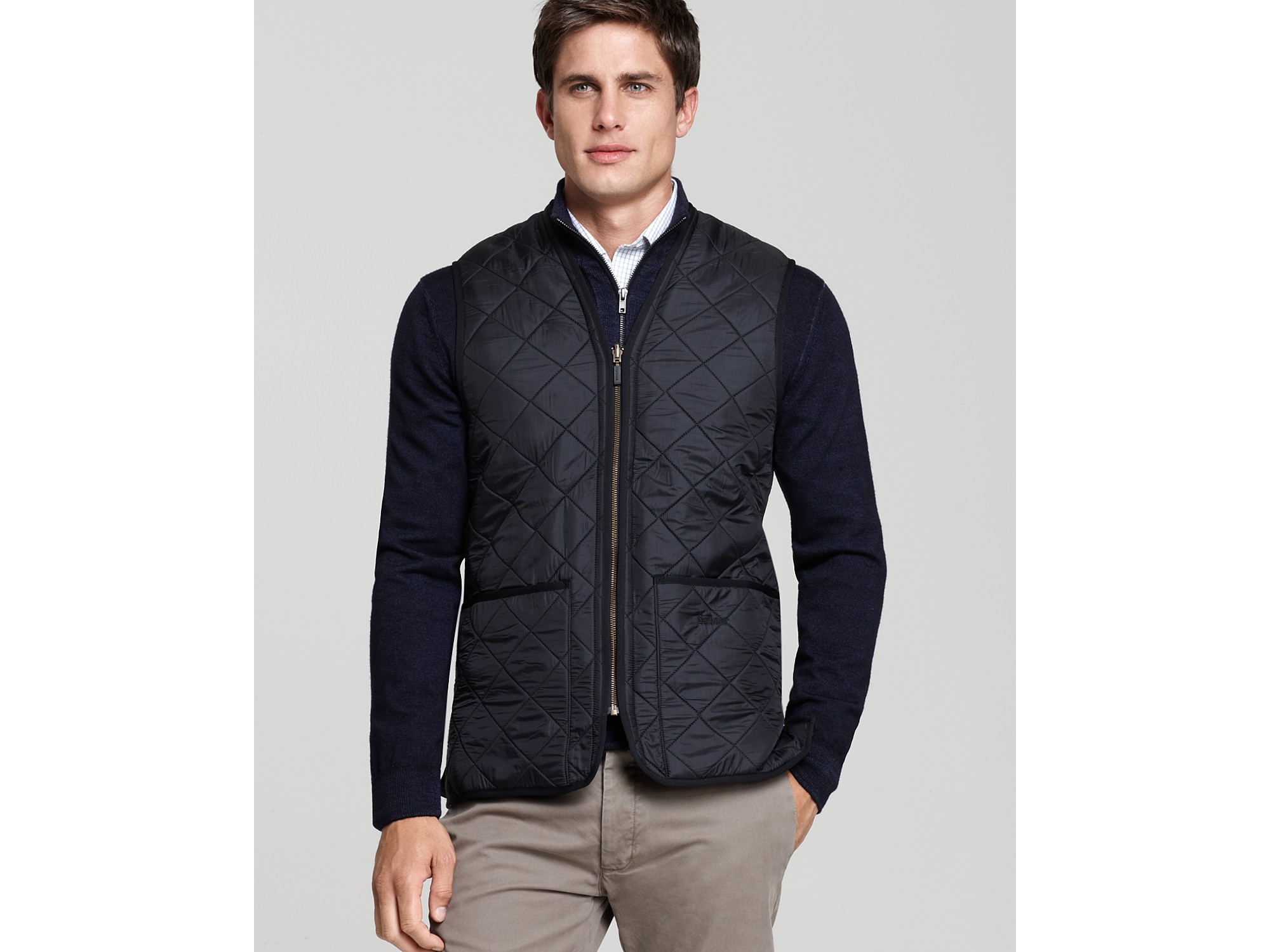 Lyst Barbour Polarquilt Waistcoat With Zip In Lining In