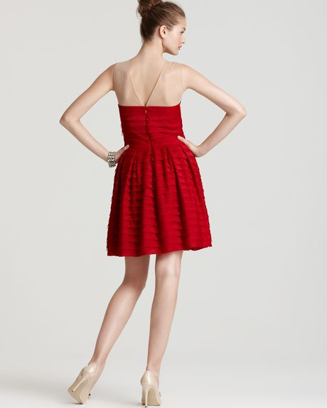 bcbgmaxazria marina tiered a line skirt dress in