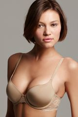 Calvin Klein Underwear Customized Lift Sexy Contour Bra in Beige (black) - Lyst