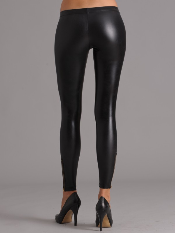 black anal latex leggings