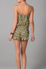 Diane Von Furstenberg New Ayden Animal Print Romper in Animal - Lyst
