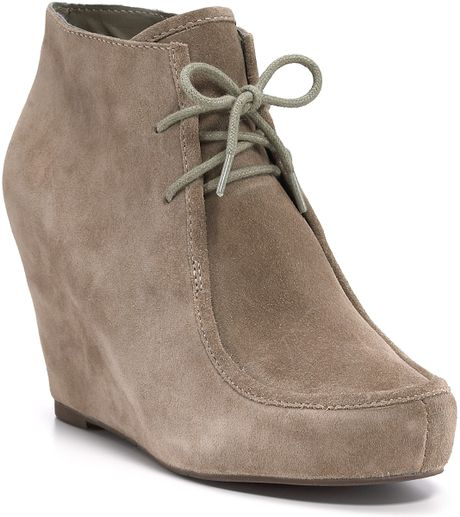 Dolce Vita Dv Pilar Wedge Booties in Beige (black) - Lyst
