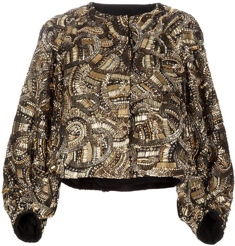 Dries Van Noten Embellished Jacket in Black - Lyst