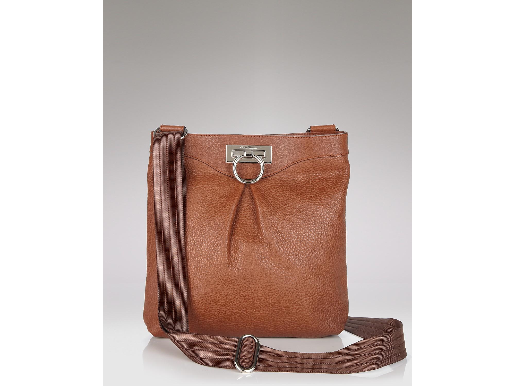 Lyst Ferragamo Graziella Leather Crossbody Bag In Black