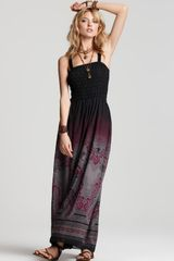 Free People Megs Smocked Maxi Dress - Lyst