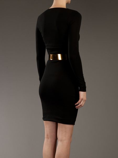 Gucci Wrap Dress In Black Lyst