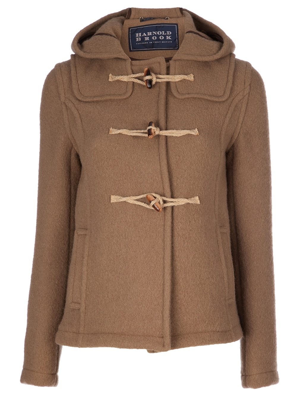 Harnold brook Short Duffle Coat in Brown | Lyst