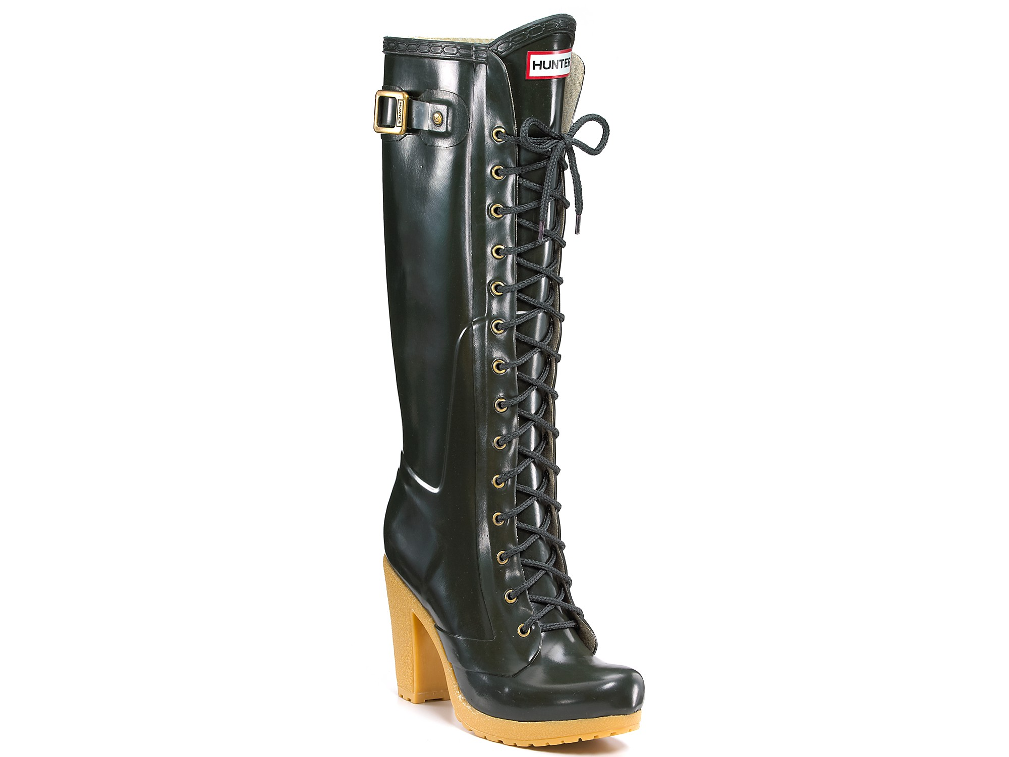 Lyst Hunter Hunter Lapins Lace Up Knee High Rain Boots