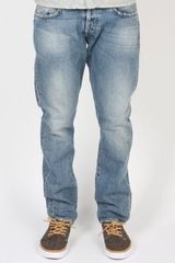 Indigofera Prima Mens Tapered Horizon Wash Jeans - Lyst