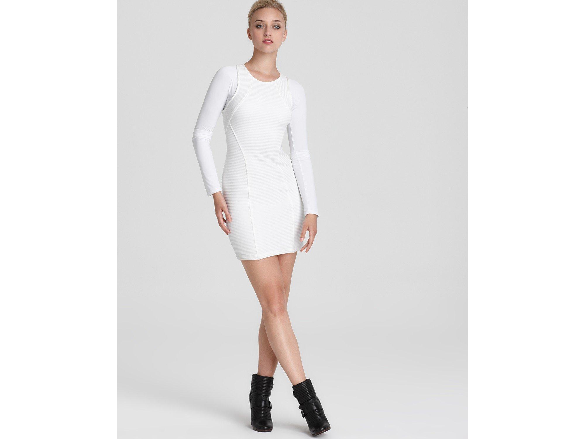 Wedding White Long Sleeve Dress kimberly ovitz paavo long sleeve dress in white lyst gallery