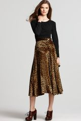 Marc By Marc Jacobs Sphinx Spotted Velvet Skirt in Multicolor (dark butterscotch multi) - Lyst