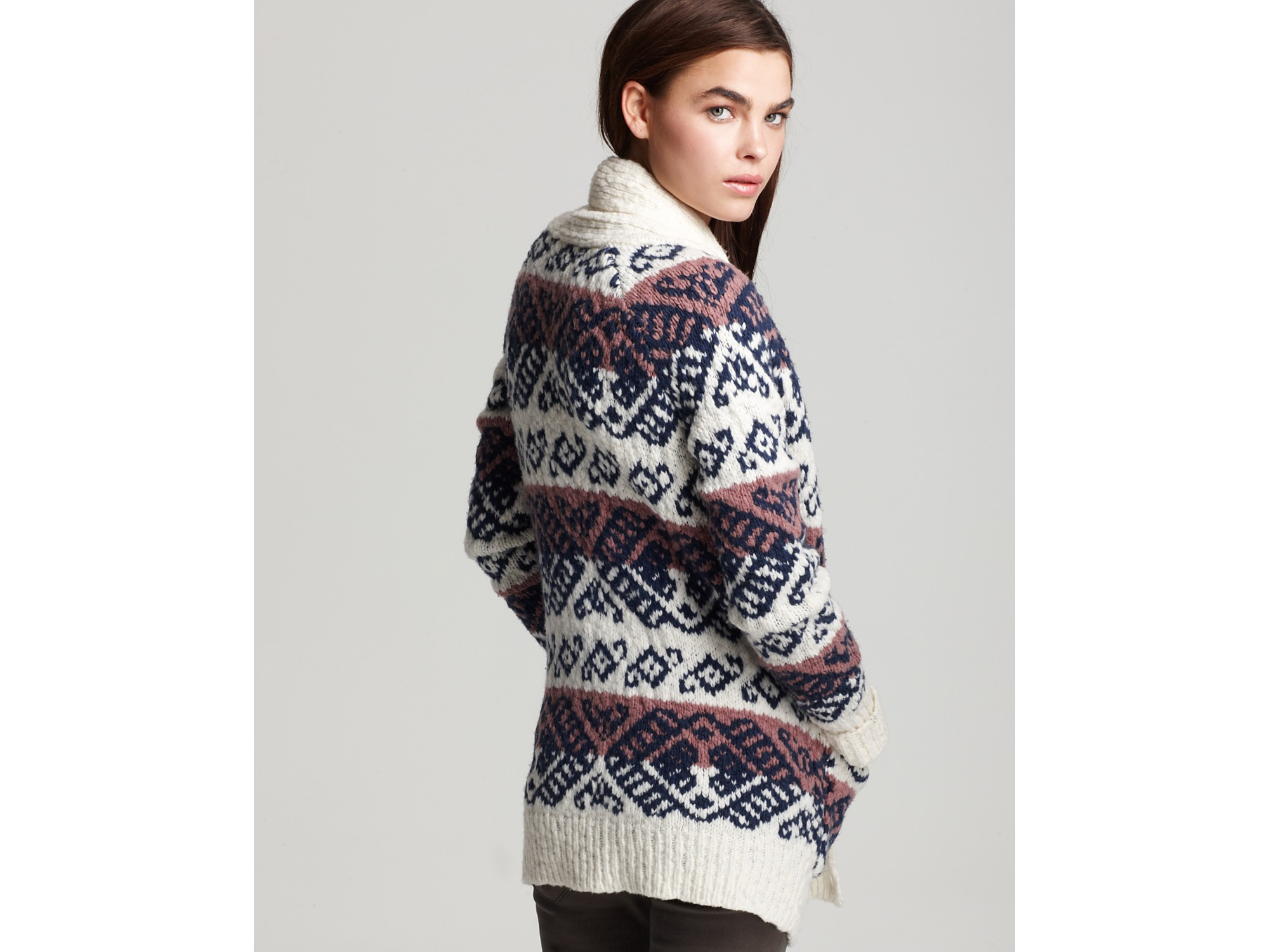 Marc by marc jacobs Kirsten Fair Isle Cardigan Sweater | Lyst