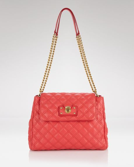 Marc Jacobs Quilted Sullivan Crossbody Shoulder in Pink (coral) - Lyst