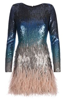Matthew Williamson Sequin Embellished and Feather Dress - Lyst