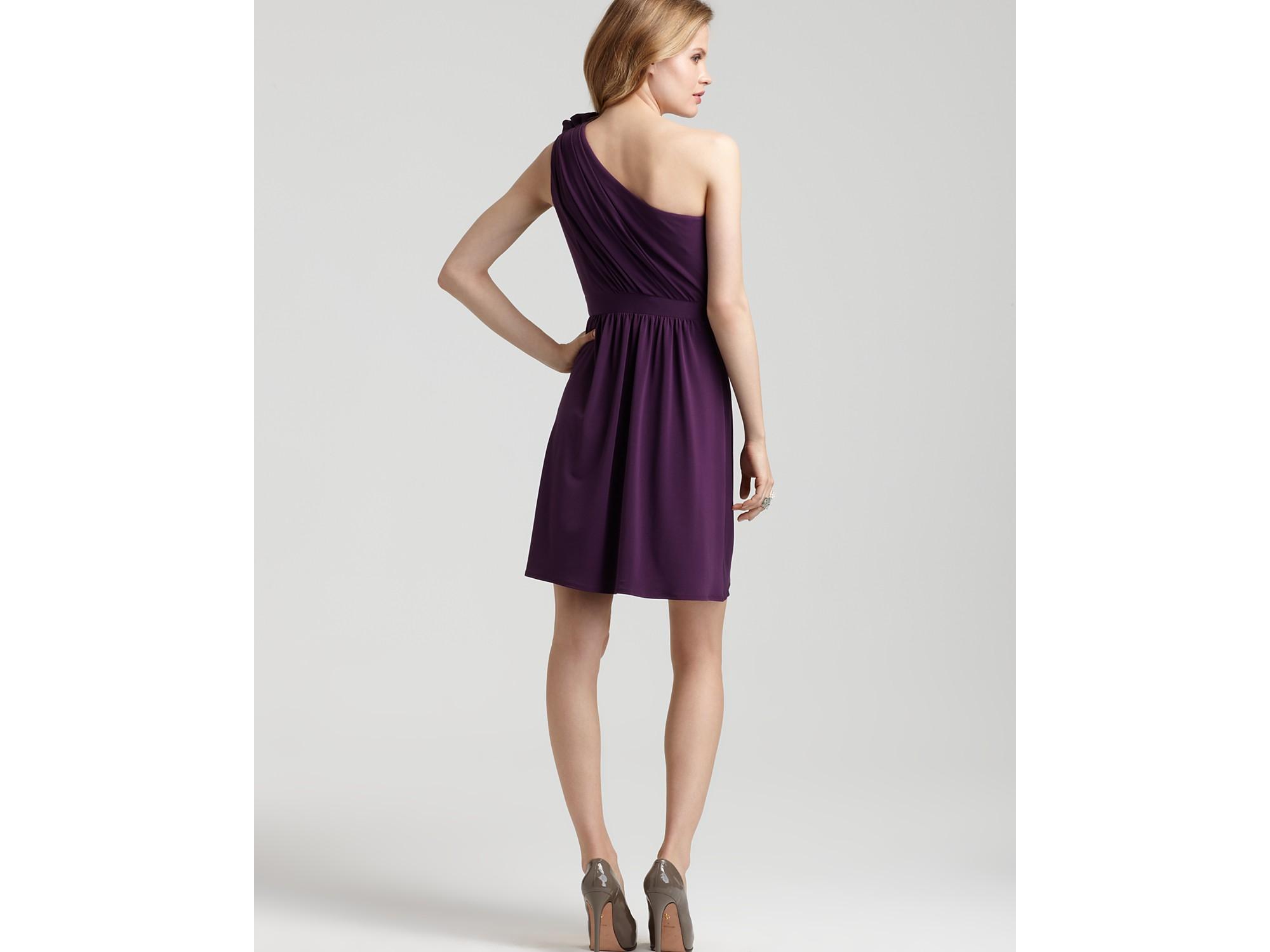 Lyst - Max & Cleo One-shoulder Ruffle Dress in Purple