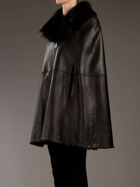 Mcq By Alexander Mcqueen Leather Cape In Black Lyst