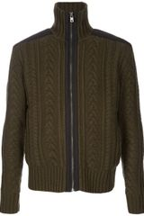 McQ by Alexander McQueen Cable Knit Cardigan - Lyst