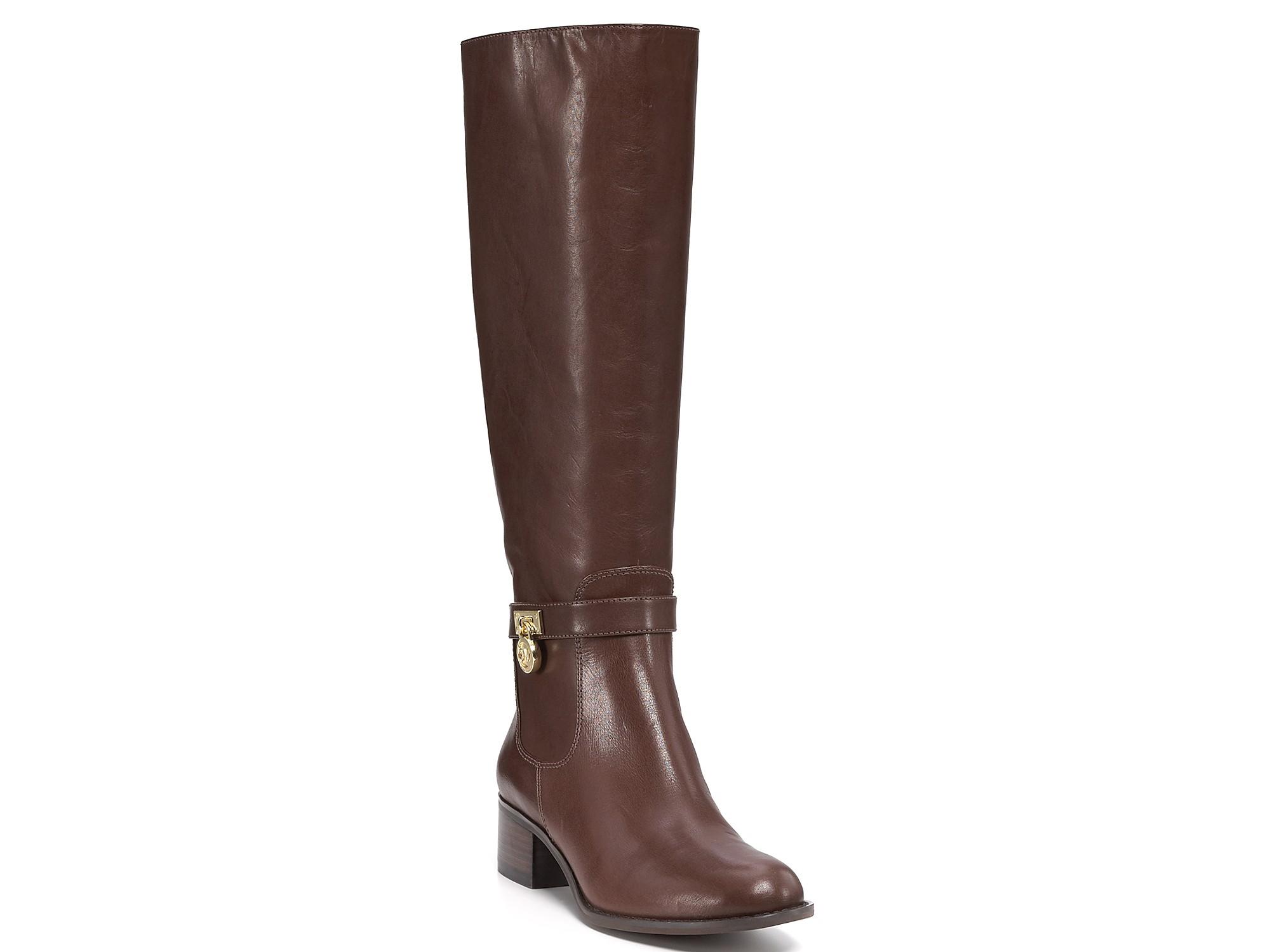 michael kors michael hamilton boots in brown lyst