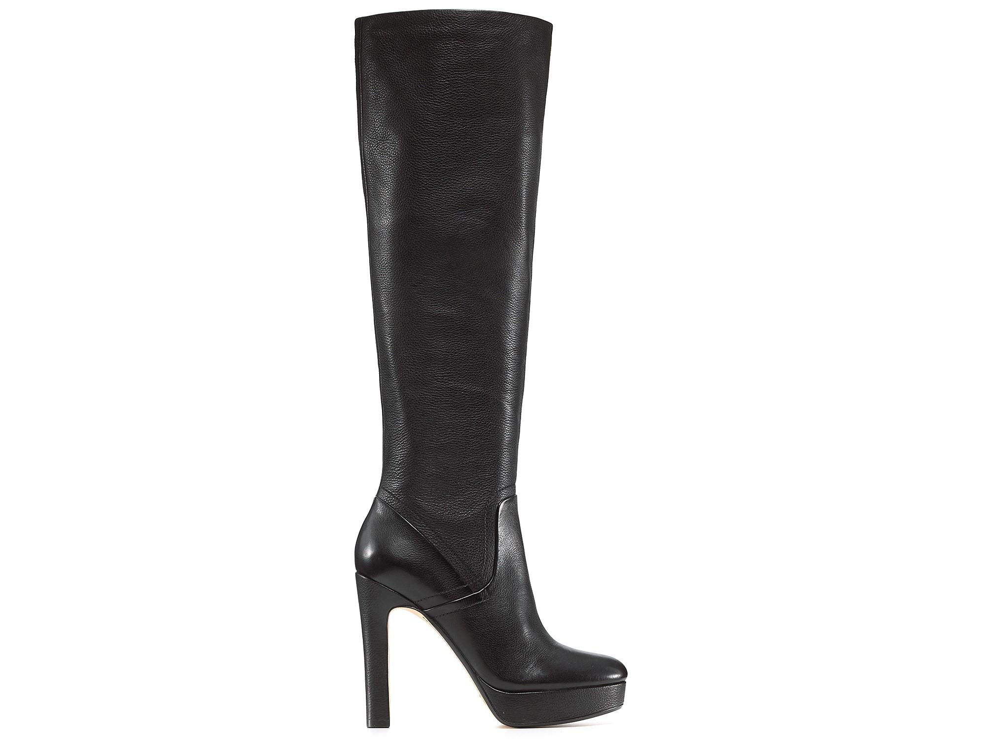 michael kors kors zola high heel boots in black lyst