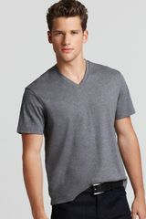 Michael Kors Shortsleeve Vneck Tee in Blue for Men (white) - Lyst