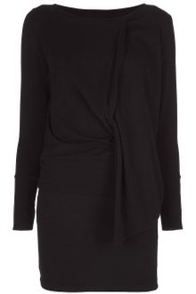 Mm6 By Maison Martin Margiela Twist Wool Dress - Lyst