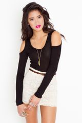 Nasty Gal Open Shoulder Tee  - Lyst