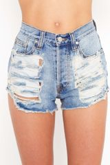 Nasty Gal Slasher Flick Cutoff Short - Lyst