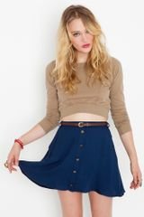 Nasty Gal Sedona Belted Skirt - Navy - Lyst