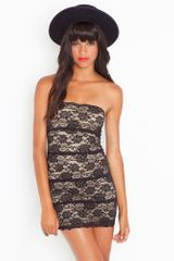 Nasty Gal Noir Lace Dress - Lyst