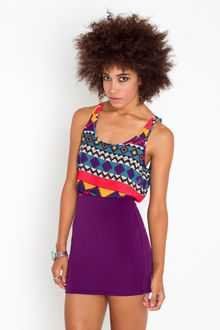 Nasty Gal Scuba Skirt - Purple - Lyst