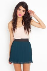 Nasty Gal Pleated Chiffon Skirt - Lyst