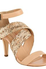 Rebecca Minkoff  Leather Bombshell Wraparound Sandals - Lyst