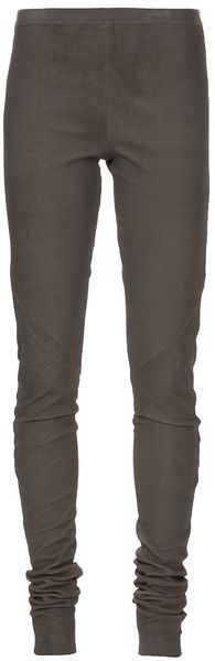 Rick Owens Leather Legging - Lyst