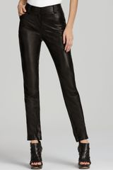 Robert Rodriguez Skinny Cropped Leather Pants - Lyst