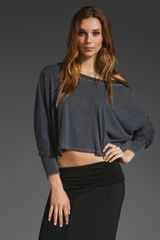 Saint Grace Crop Top in Gray (black) - Lyst