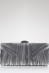 Sondra Roberts Large Pleated Satin Box - Lyst