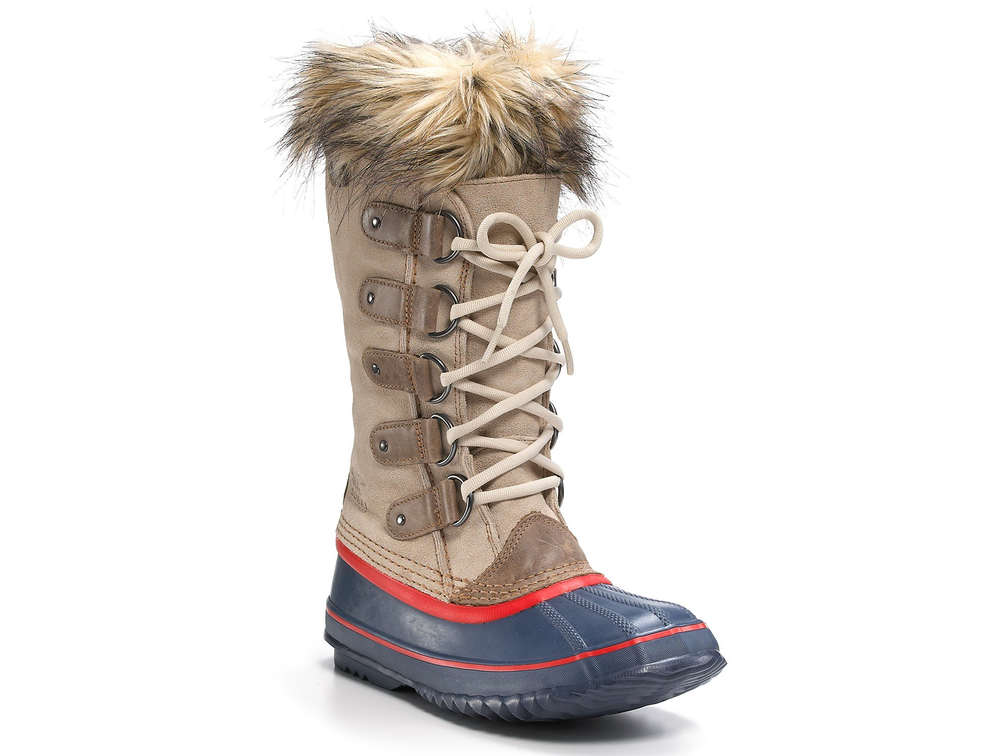 Sorel Joan Of Arctic Lace Up Boots In Beige Brown With