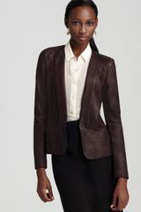 Theory Frima Ford Leather Jacket - Lyst