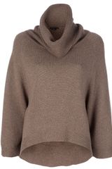 Theory Oversized Polo Neck Jumper - Lyst
