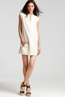 Theory Emoran Dress with Leather Details - Lyst
