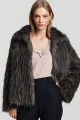 Trina Turk Feathered Faux Fur Jacket - Lyst