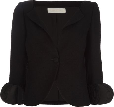 Valentino Wool Jacket in Black - Lyst