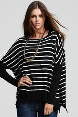 Vince Camuto Striped Dolman Sweater - Lyst