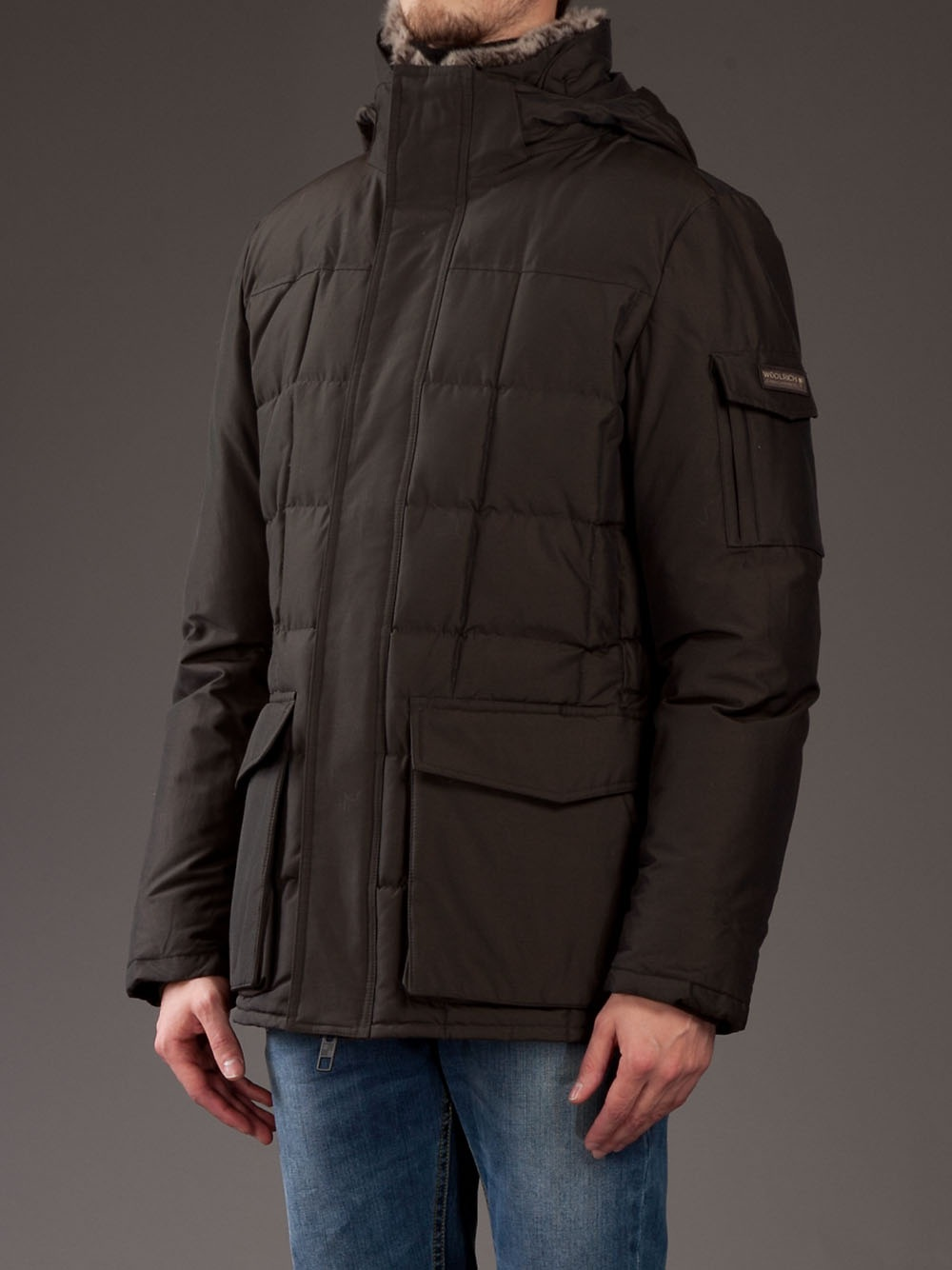 Lyst Woolrich Blizzard Coat In Brown For Men