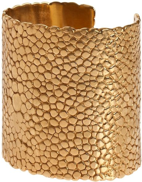 Yves Saint Laurent Stingray Cuff in Gold - Lyst