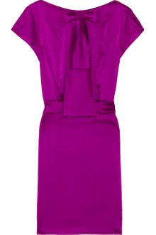 Zac Posen Jabot Silk-blend Satin Dress - Lyst
