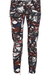Balmain Graffiti-print Cropped Cotton Pants - Lyst